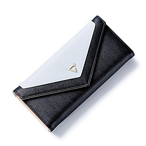 d'embrayage Haoling Envelope Portefeuille Cuir Black PU pour géométrique monnaie Portefeuille Porte pour femmes les Téléphone les Hasp de sacs d'argent mode 5qwnwgAt