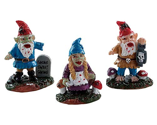 Lemax Spooky Town Zombie Garden Gnomes, Set of