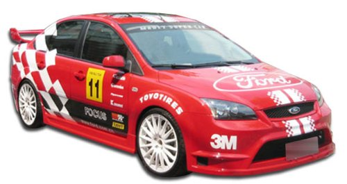 Focus Ford Zx3 Skirt (2005-2007 Ford Focus ZX3 ZX5 Duraflex GT300 Body Kit - 4 Piece - Includes GT300 Front Bumper Cover (105241) Pro-DTM Side Skirts Rocker Panels (100045) Poison Rear Bumper Cover)