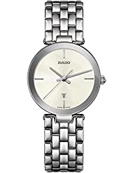 Rado Womens Florence 28mm Steel Bracelet & Case Sapphire Crystal Quartz Champagne Dial Watch R48874013