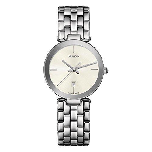 Rado Women's Florence 28mm Steel Bracelet & Case Sapphire Crystal Quartz Champagne Dial Watch R48874013