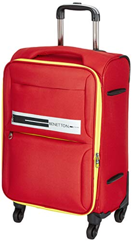 United Colors of Benetton Polyester 50 cms Red Softsided Cabin Luggage