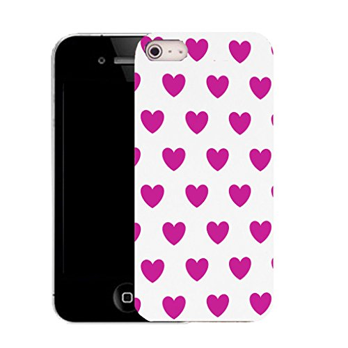 Mobile Case Mate IPhone 5S clip on Silicone Coque couverture case cover Pare-chocs + STYLET - cluster heart pattern (SILICON)
