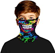 Mirrcly Kids Face Cover Neck Gaiter Headwear with Ear Hangers Multifunctional Fishing Cycling Mask Balaclavas