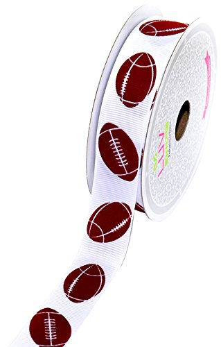 Creative Ideas GSO0708-FOT Grosgrain 7/8-Inch Sports Ribbon, 10-Yard, ()