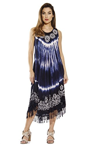 - Riviera Sun Dress / Dresses for Women,Navy / White,Small