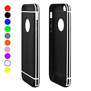 SHOUJIKE Protective TPU with Plastic Back Case Cover for iPhone 6 (Assorted Colors) , Red