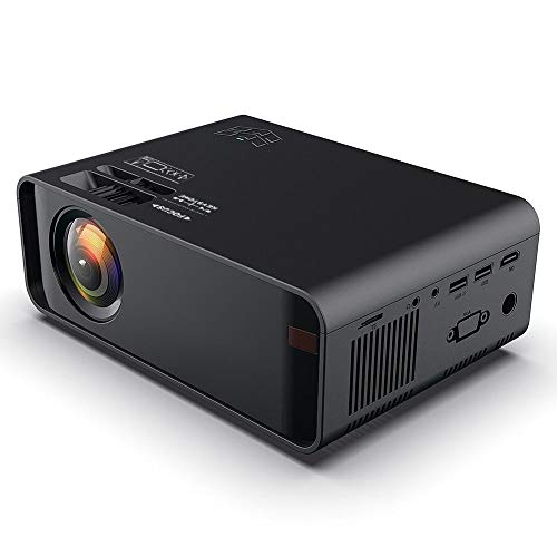 LED Projector, 480P HD Portable Video Projectors with 1500 lumens and 30000 Hours Lamp Life Multimedia Home Theater Support USB, HDMI, VGA, AV, TF Card for Smartphone, Tablet, TV, PC, 110-240V.(us) from Ciglow