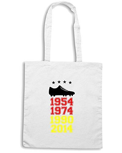 T-Shirtshock - Bolsa para la compra T0811 germania campione del mondo calcio ultras Blanco