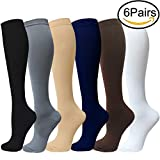 SOOVERKI 6 Pairs Sport Plantar Fasciitis Arch Support Low Cut Running Gym Compression Foot Socks/Foot Sleeves(L/XL,6Pack)