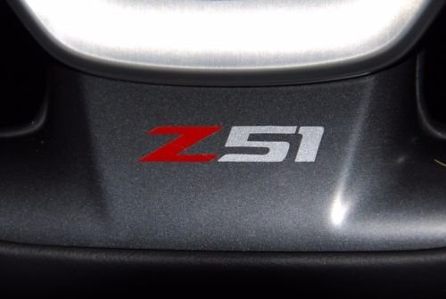 Corvette C7 Z51 Vinyl Decal for Side Vent or Steering Wheel - Red and Silver