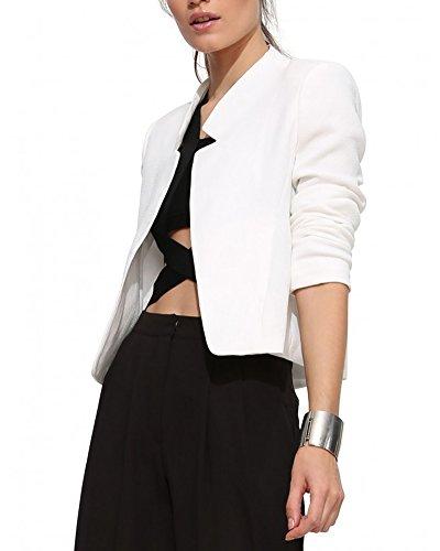 Manteaux Veste Blanc Mode Jacket Blouson Coat Femme Classique wE8qUccI