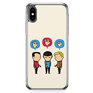 Loud Universe Funny Star Trek iPhone XS Max Case Team of Star Trek Classic iPhone XS Max Cover with Transparent Edges