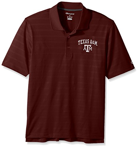 - NCAA Champion Men's Textured Solid Polo, Texas A&M Aggies, X-Large