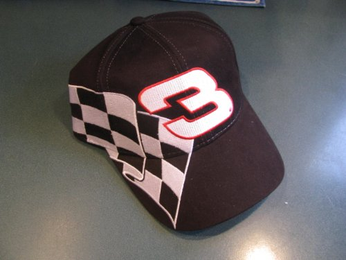 Dale Earnhardt Sr #3 Checkered Flag GM Goodwrench Service Black Hat Cap One Size Fits Most OSFM Chase Authentics