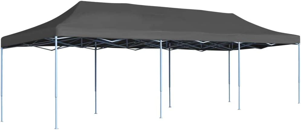 vidaXL Folding Pop-up Party Tent 3x9m Anthracite Outdoor Canopy Gazebo Marquee
