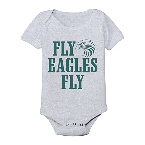 Fly Eagles Fly Football New England 2018 Patriots Bowl Party Baby One Piece Newborn Gray by Funny Threads Outlet