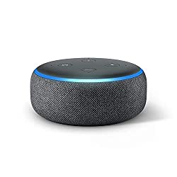 Image of the product ECHO DOT IS A VOICE that is listed on the catalogue brand of Amazon. The product has been rated with a 4.7 over 5