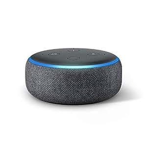 echo dot 3rd gen smart speaker with alexa charcoal. Black Bedroom Furniture Sets. Home Design Ideas