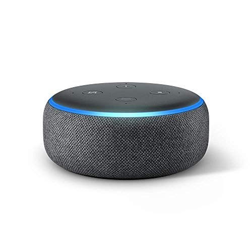 Echo Dot (3rd Gen) - Smart speaker with Alexa - Charcoal (Best Voice Overs Ever)