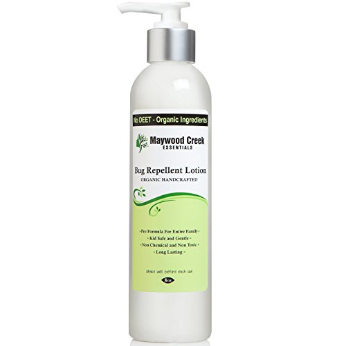 BEST BUG REPELLENT LOTION ORGANIC - Nontoxic, 8 OZ Long Lasting Effective Repeller Protection Against Mosquitoes, Horse Flies, Stink Bug Insects & Other Pests