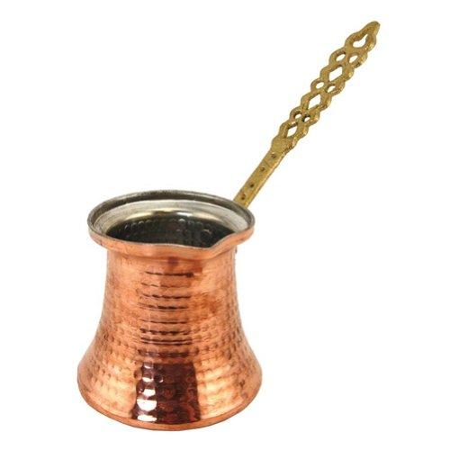 The Turkish Emporium Cafetera Turco de cobre con asa de metal–Gran tamaño 3tazas