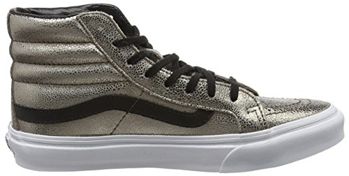 Vans Slim Women's Black Shoes Leather 9 Metallic SK8 Bronze 5 HI OqOUT