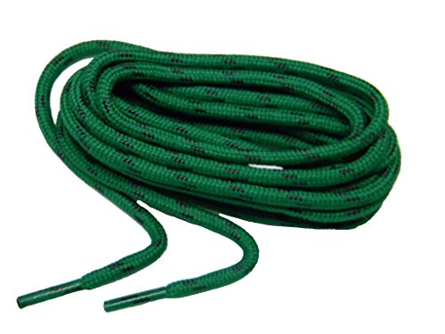 (GREATLACES Kelly Green w/Black Kevlar(R) proTOUGH(TM) Boot Shoelaces 2 Pair Pack (72 Inch 183)