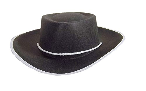 (Jacobson Hat Company Child's Permafelt Cowboy Costume, Black,)
