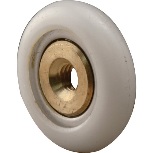 (Prime-Line Products M 6206 Tub Enclosure Rollers, 3/4-Inch Round, Narrow Tire,(Pack of)