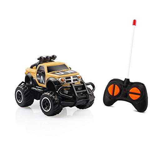 Remote Control Car for Boys 3-5,Mini Cars for 7 Year Old boy Gifts RC Trucks for Boys Army Toys RC Cars for Boys Age 8-12 Juguetes para Niños Birthday Gifts for 3 Year Old Boys Yellow