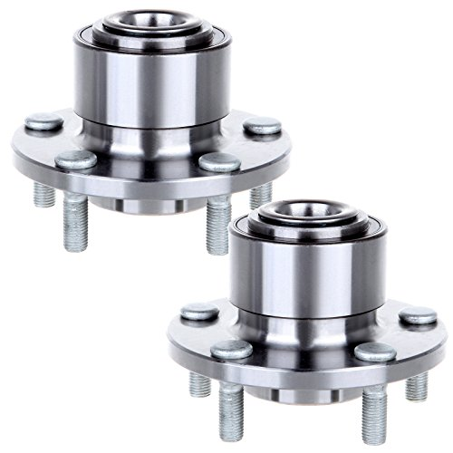 ECCPP Replacement for Pair of 2 Front Wheel Hub Bearing Assembly 5 Lugs w/ABS for 2004-2005 Mazda 3 513211¡Á2