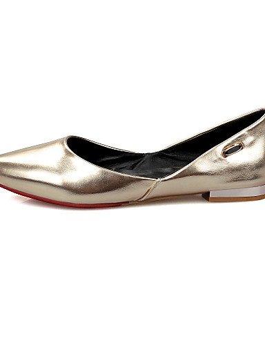 GGX  Damenschuhe-High Heels-Kleid Heels-Kleid Heels-Kleid   Lässig-Kunstleder-Niedriger Absatz-Absätze   Spitzschuh-Rot   Weiß   Gold e47b21