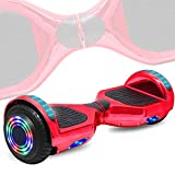 DOC Electric Hoverboard Self-Balancing Hoover Board with Built in Speaker LED Lights Wheels UL2272 Certified (Chrome Rose)
