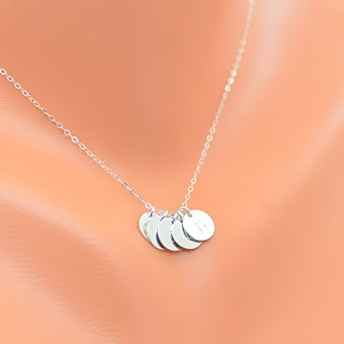 - Circle necklace, disc necklace, monogram necklace, Mother necklace, personalized initial necklace, charm necklace, grandmother necklace, family necklace