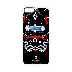 iPhone 6 6S Plus 5.5 Inch funda Blanco [PC dura de la funda + HD Pattern] Marcelo Serie Burlon® [Numeración: FHJSFOHSL2585]