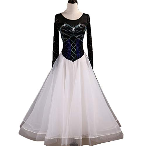 YuLin Sleeveless Lace Foxtrot Ballroom Performance Dance Costume Dresses Great Swing