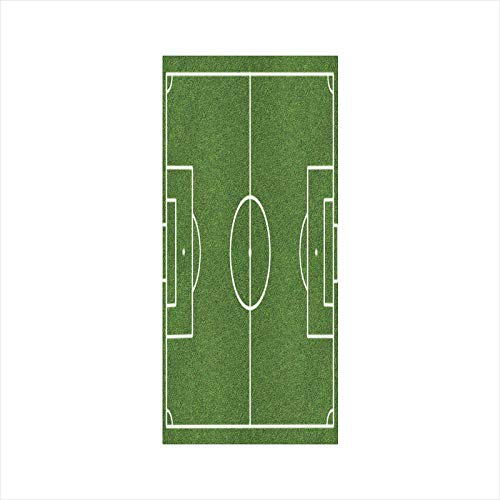 - Decorative Window Film,No Glue Frosted Privacy Film,Stained Glass Door Film,Soccer Field Grass Motif Stadium Game Match Winner Sports Area Print,for Home & Office,23.6In. by 47.2In Fern Green White