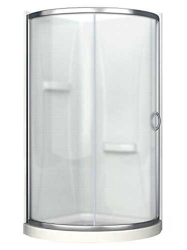 Ove Decors Breeze 31 withwalls Premium 31-Inch Shower Kit with Acrylic Base and Walls and Clear Glass Sliding Door