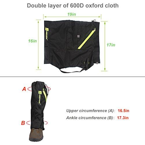 Kratarc Outdoor Leg Gaiters Snow Legging Gaiter Cover for Hiking Walking Climbing Hunting