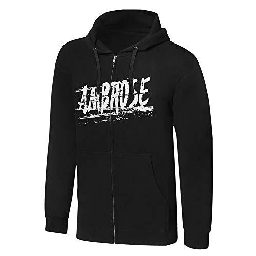 WWE Dean Ambrose Return to Society Full Zip Hoodie Sweatshirt Black Small