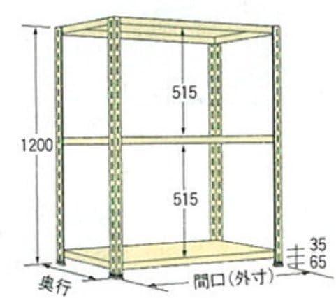 扶桑金属工業 軽量ラッ クWO1218L03 オープン型 アイボリー W1800×D600×H1200 3段