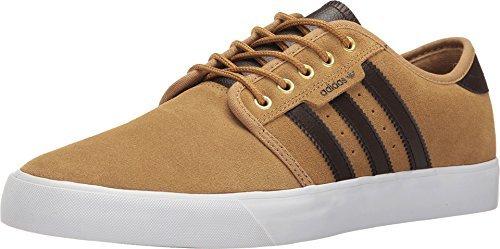Adidas skateboard white uomini seeley mesa / marrone scuro / white skateboard scarpa da ginnastica 564957