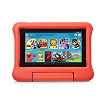 Kid-Proof Case for Fire 7 Tablet (Compatible with 9th Generation Tablet, 2019 Release), Red