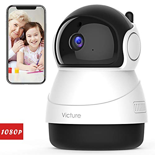 Victure 1080P WiFi Security Camera FHD Indoor IP Camera with Night Vision Motion Detection 2-Way Audio Home Wireless Surveillance Monitor for Baby/Elder/Pet