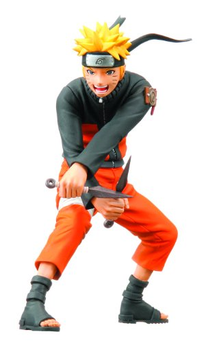 Bandai Naruto Shippuden: Naruto Figuarts Zero PVC Figure (Poseable Naruto Action Figure)