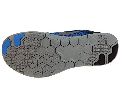 Nike Herre Free Rn Distance Skjold Nylon Løbesko Sort / Hyper Kobolt / Blåt Skær / Metallisk Sølv gtlbUYMb