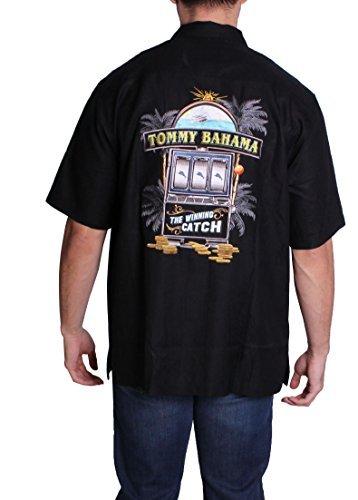 Winning Catch M Black - Tommy Bahama Hawaiian Shirts