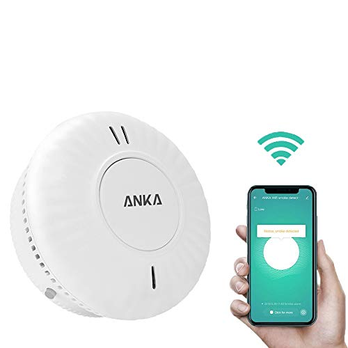 ANKA Wireless Smoke Detector Alarms, UL Listed Photoelectric Wifi Smoke Fire Alarms Detectors with Test Button for…