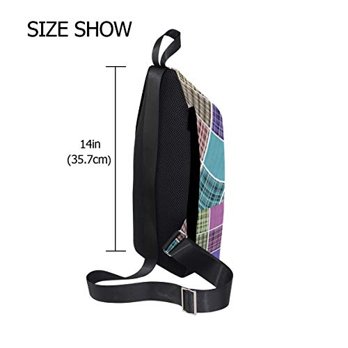 Bag Women Crossbody Men Backpack Bags Sling Plaid Colorful Shoulder Chest amp; One For Bennigiry wAOaq8n
